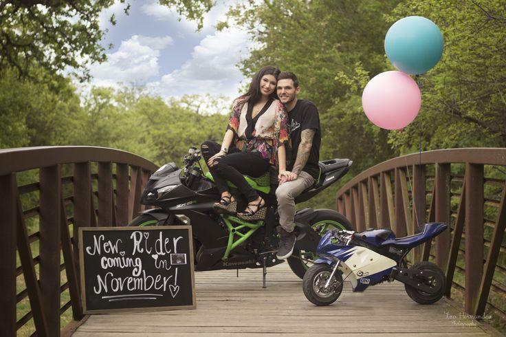 pregnancy announcement. #motorcycle #pregnancy #announcement