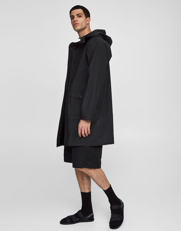 Parka impermeable capucha - Ver hombre - Festivales - Hombre - PULL&BEAR Colombia