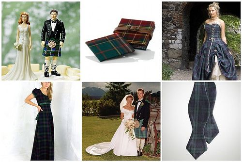 Scottish wedding theme complete with groom in kilt