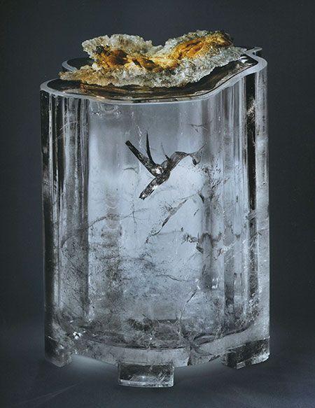 """natural """"hummingbird"""" inclusion in quartz-"""