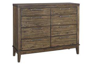 "Zilmar Walnut Brown Dresser Sale : $519.99 Dimension:  Dresser : 16.63""D x 43.25""H x 53.25""W"