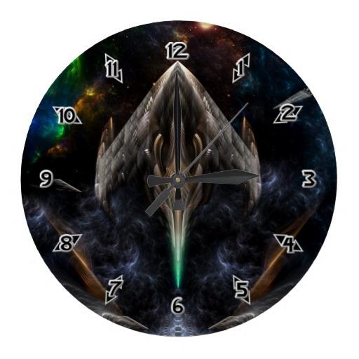 Flight Of The Conexion XJ7X1 Fractal Wall Clock $28.10 - Click Here http://xzendor7.com/xzendor7-wall+clocks.php