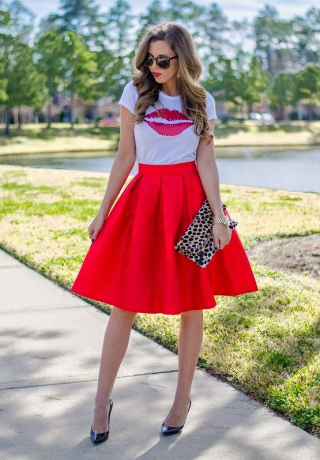 Different shirt with it, but cute skirt