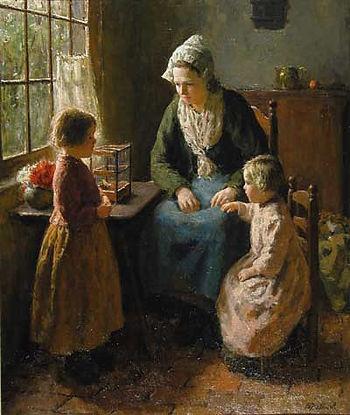 A Summer Morning, Bernard Pothast. Dutch (1882-1966) - absolutely love this.