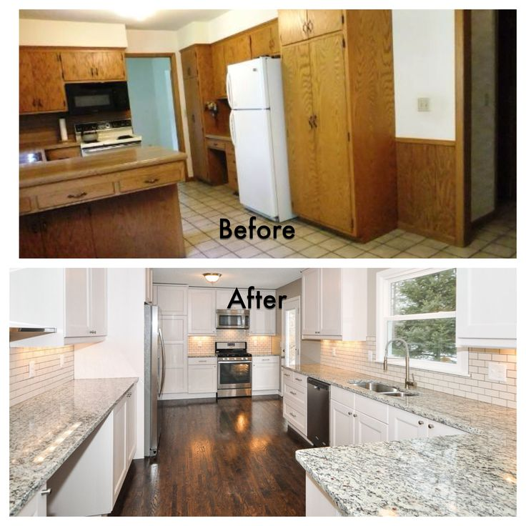 Dark Kitchen Cabinets Light Floors: Turning A Before Into An After- Total Kitchen Remodel