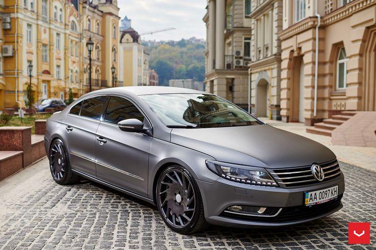 Matte Grey suit's the Volkswagen CC. Especially alongside Vossen Wheels.