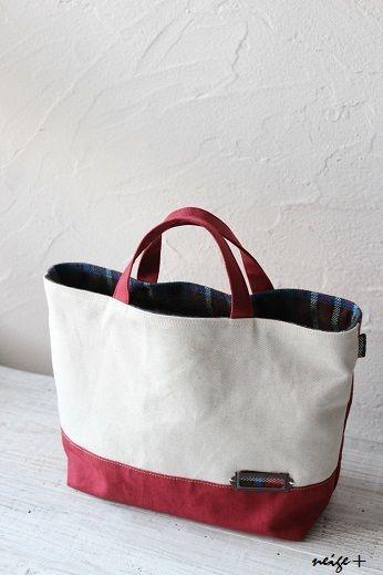 真っ赤な帆布のちょっとそこまでトート&自宅ショップのお知らせ : neige+ 手作りのある暮らし