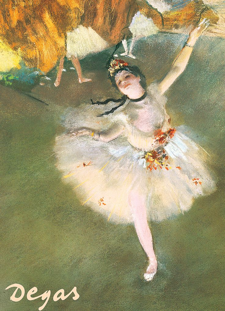 Ballerina by Degas 1000-Piece Puzzle. Degas is recognized worldwide for his work about ballet dancers.