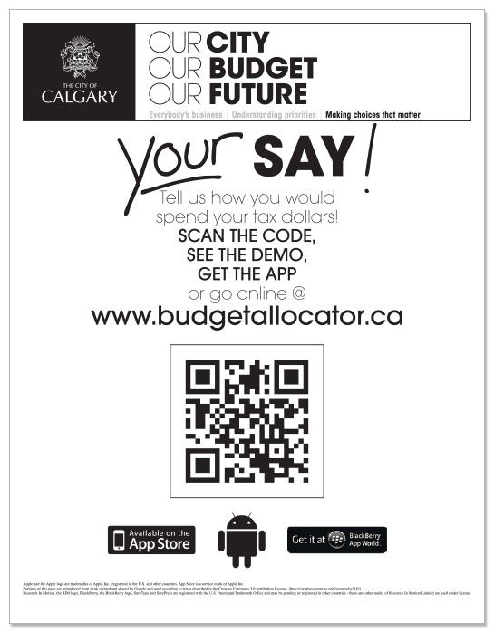 Public Engagement Campaign Materials designed for the City of Calgary via Dialogue Partners