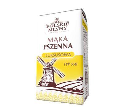 Mąka pszenna luksusowa typ550. Mąka pszenna luksusowa typ 550 płońska to mąka regionalna, która charakteryzuje się niezwykłym smakiem oraz tradycyjnie wytwarzaną recepturą. Doskonale nadaje się do przygotowywania ciast drożdżowych, pączków, placków oraz faworków. Dzięki niej ciasto naleśnikowe, makaronowe oraz pierogi zyskają nową jakość oraz nabiorą niewiarygodnego smaku. Mąka ta  sprawdzi się również jako naturalny zagęszczacz do sosów i zup.