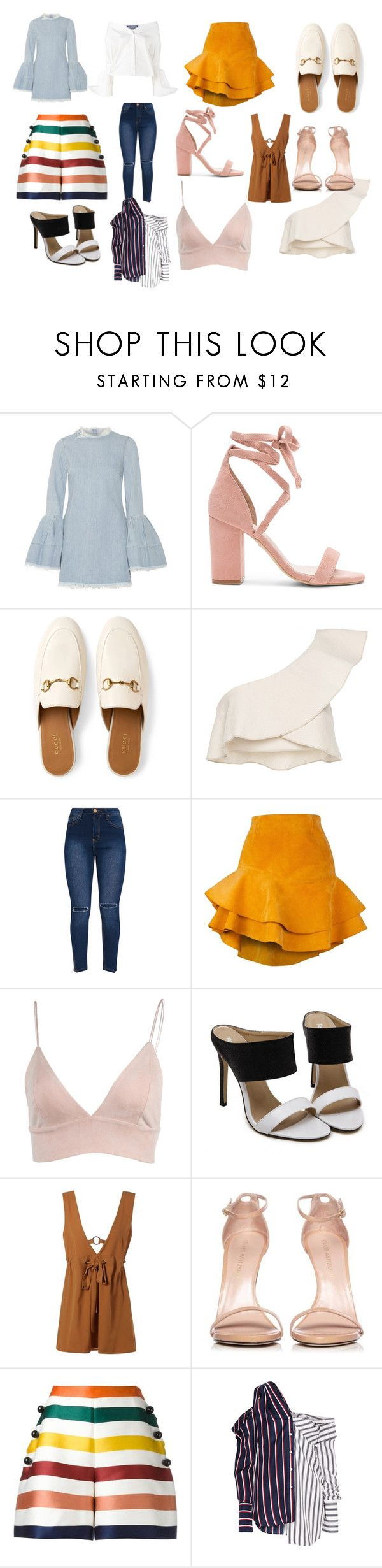 """hauf"" by sofiamar18 on Polyvore featuring Marques'Almeida, Raye, Gucci, Isabel Marant, Siobhan Molloy, Stuart Weitzman, Carolina Herrera, Monse and Jacquemus"