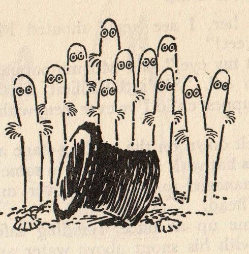 Hattifatteners -  from the Moomin books by Tove Jansson