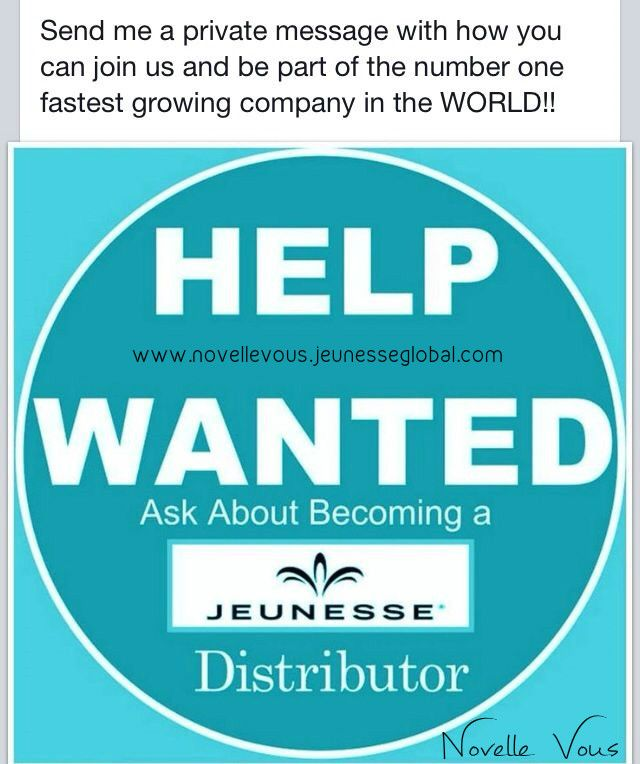 """JEUNESSE GLOBAL Global means growth With Jeunesse, """"a world of opportunity"""" is quite literal. Our global platform allows you to network across countries and continents. And our online model capitalizes on your social networks so you can easily and quickly build and strengthen worldwide relationships, which in turn build bigger businesses. Jeunesse is available in 85 nations and counting. You can take advantage of them all. www.novellevous.jeunesseglobal.com"""