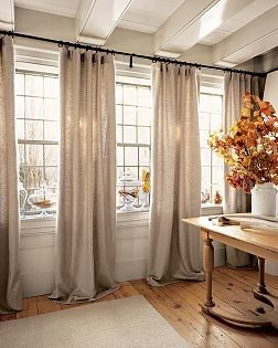 Window Treatments that drag the floor... so romantic if in the perfect spot.