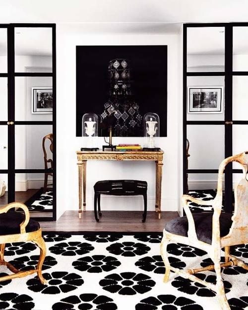 10 Best Ideas About Black White Rug On Pinterest