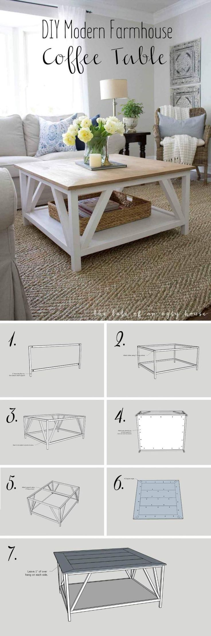 25 Creative Coffee Tables Farmhouse Design Ideas