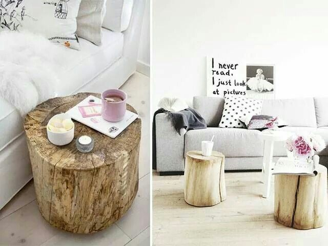Tree stump coffee or side table