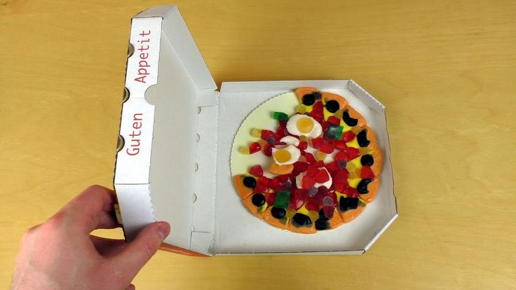 Candy Gummy Pizza vs. Real Pizza