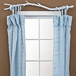 I love the curtain rod. It would look amazing in a nature decor kids room.