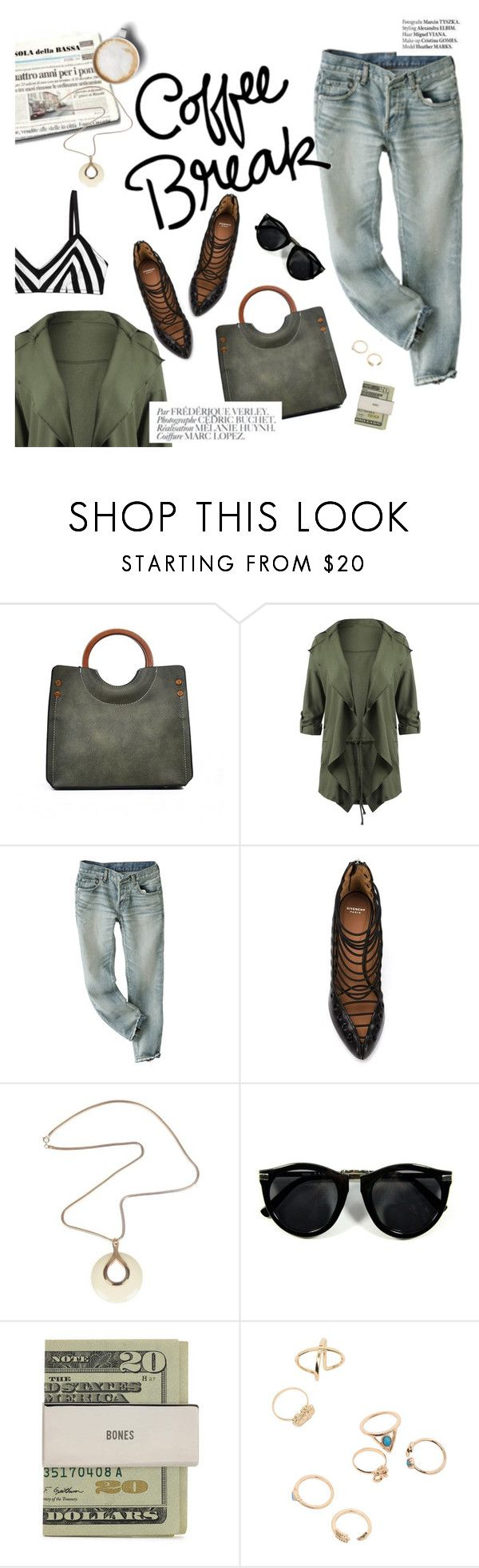 """Coffee break"" by lux-life ❤ liked on Polyvore featuring Givenchy, Bela, Haute Hippie, Caffé, Lanvin, Jack Spade and Monki"