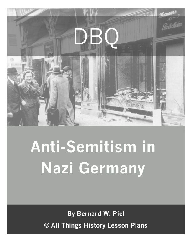 a history of anti semitism in nazi germany In this lesson, students will explore controversial symbols, the historical  racism,  anti-semitism, and stereotyping during the holocaust  swastika: the swastika  became the symbol of hitler's nazi party during wwii, when approximately six.