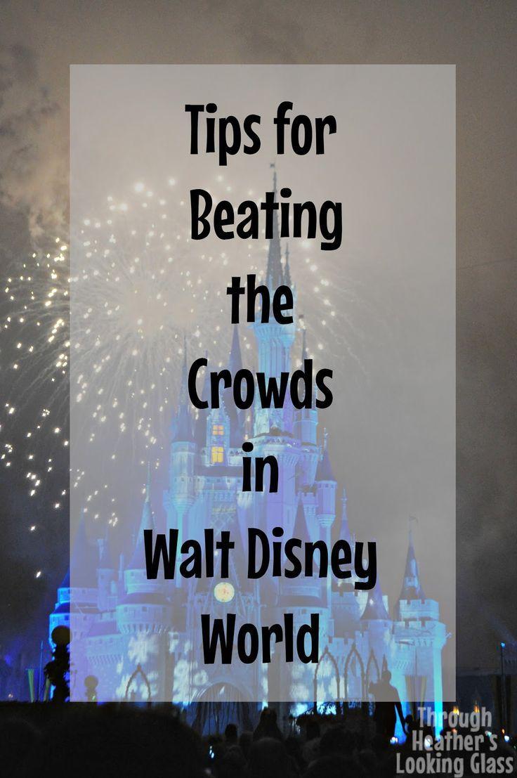 Disney World Planning Tips: 5 Quick Tips to Beat the Crowds at Walt Disney World- during peak season.