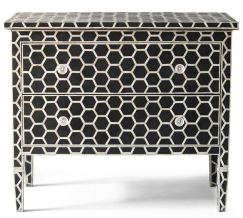 Bone Inlay 2 Drawer Chest Honeycomb - Complete Pad ®