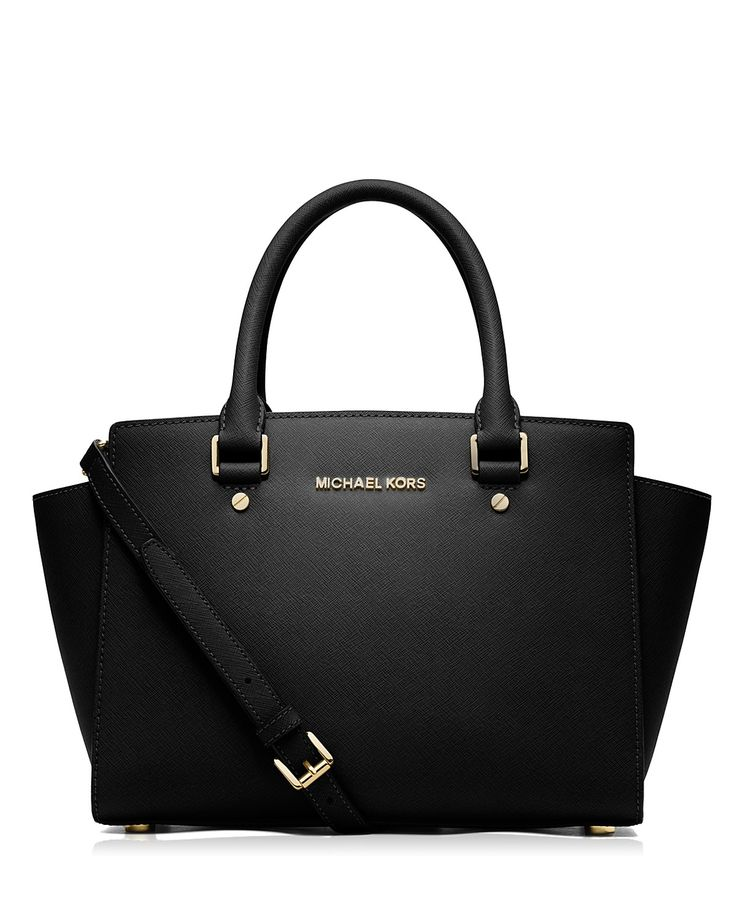 Constructed from saffiano leather in a classic, carry-anywhere shape, the Selma satchel from Michael Michael Kors achieves It bag status. | Saffiano leather | Imported | Double handles, detachable adj