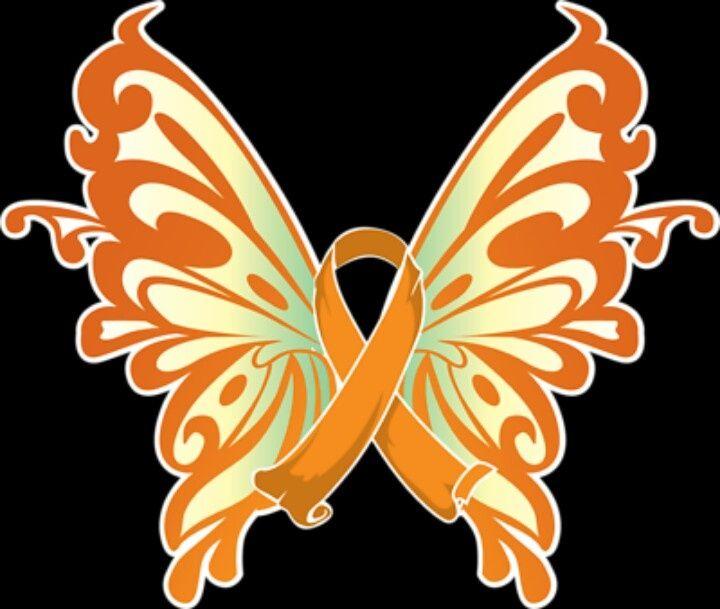 Leukemia Ribbon Butterfly