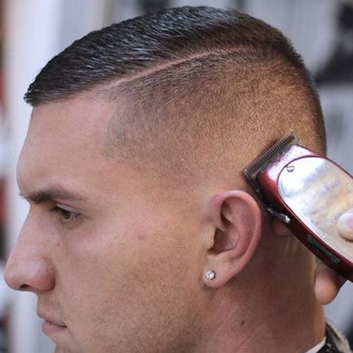 Marine Haircuts - Buzz Cut with Part