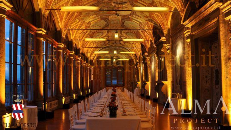 ALMA PROJECT @ Villa Corsini - Galleria Pandolfo - uplights battery led - deep amber 066