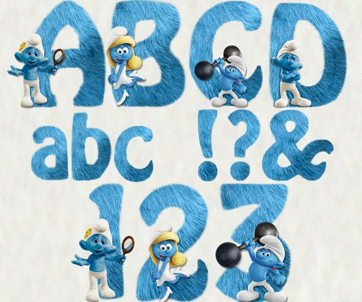 The Smurfs Alphabet & Numbers