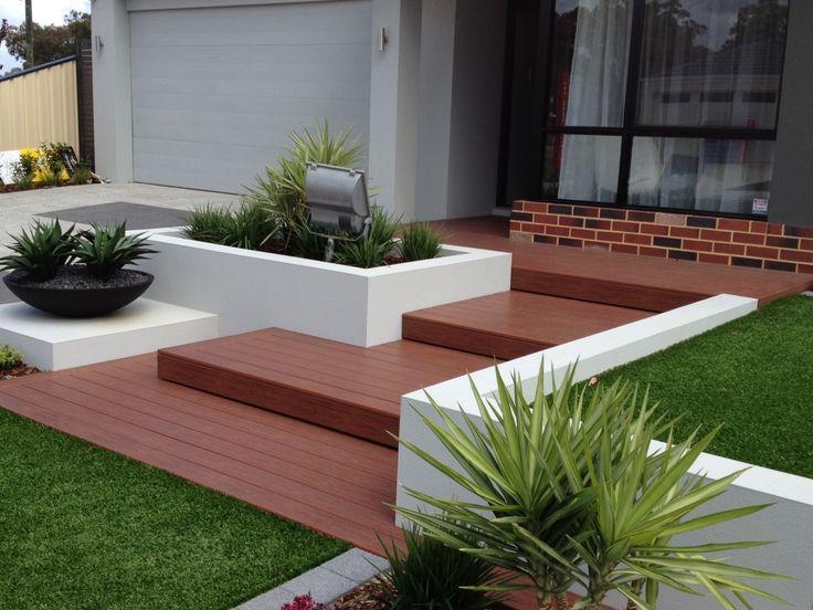 A nice, multi step porch
