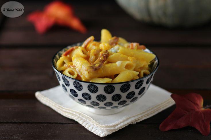 Pasta+con+zucca,+gorgonzola+e+speck