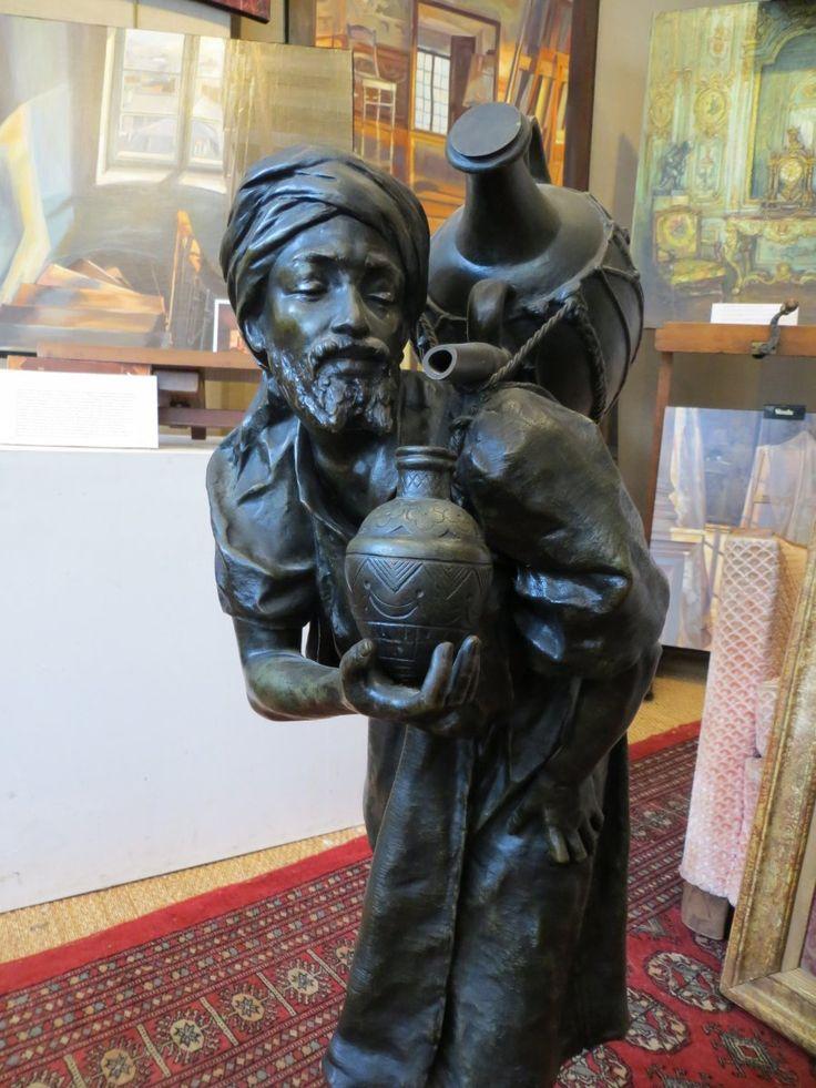 """Sculpture Sculpture en Bronze - Bronze """"Le porteur d'eau"""" par Louis Hottot"""