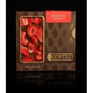 Czekolada Cortez z truskawkami  #czekolada #mleczna #cortez #chocolate #milk #strawberries