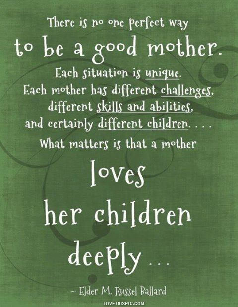 Loves her children deeply....