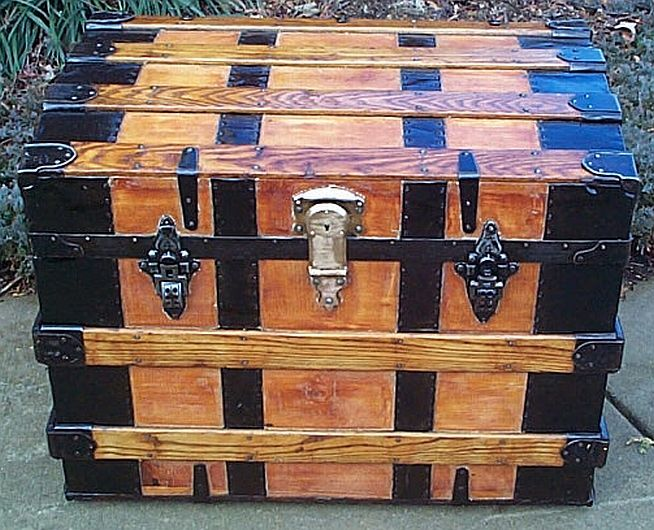 Wooden Chest Hardware ~ Antique wooden trunk hardware woodworking projects plans