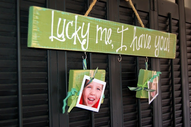 Love this idea for St. Patrick's day! I don't really care for this holiday but this is a cute saying & would be fun to make!