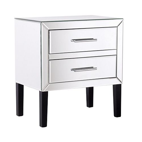 Venetian 2 drawer bedside locker