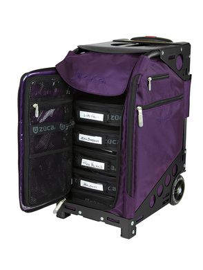 OMG I'm in heaven the zuca pro artist bag officially comes in purple now!!! ***