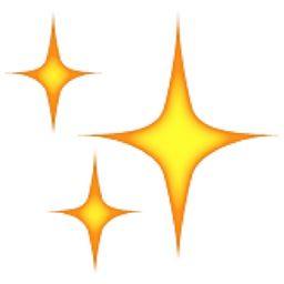 Image result for sparkles emoji