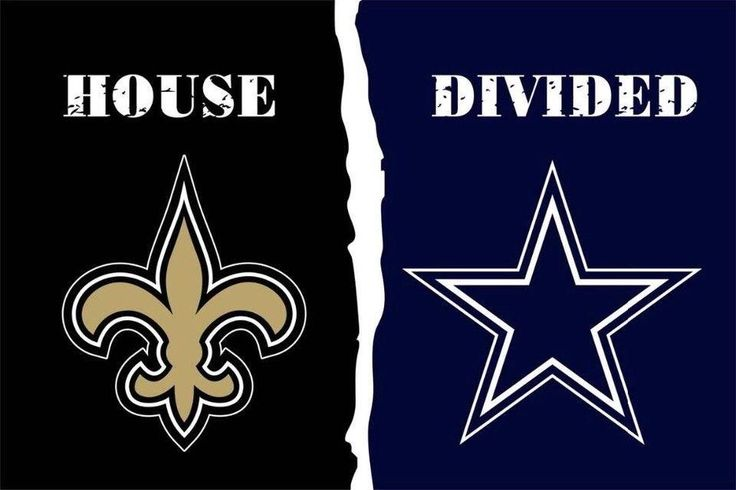 Dallas Cowboys and New Orleans Saints: House Divided Flag; 3'x5'
