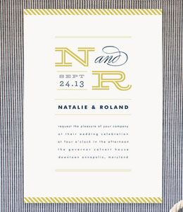 Nautical Wedding Invitations   Blue Wedding Invitations   Striped Wedding Invitations