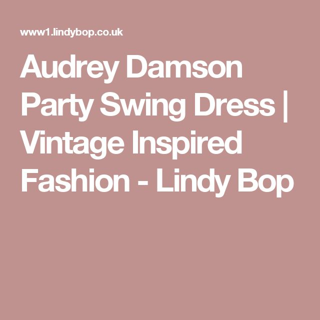 Audrey Damson Party Swing Dress | Vintage Inspired Fashion - Lindy Bop