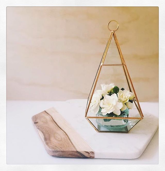 Glass terrarium & Marble platter • both @kmartaus • both deeeeelightful thanks for sharing @joyess ✨ #iheartkmart