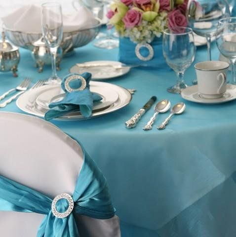 Coastal Style Turquoise Tablescapes Wedding Decorturquoise