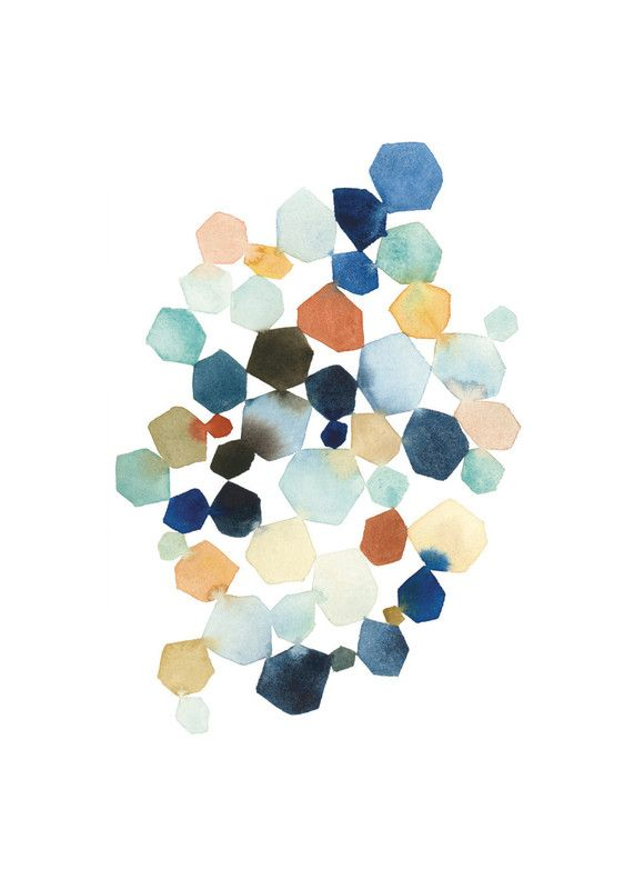 Hexagon Cluster by Yao Cheng for Minted http://www.minted.com/product/wall-art-prints/MIN-216-GNA?utm_source=pinterest&utm_medium=social&utm_campaign=product_details_share&t=1405309861006