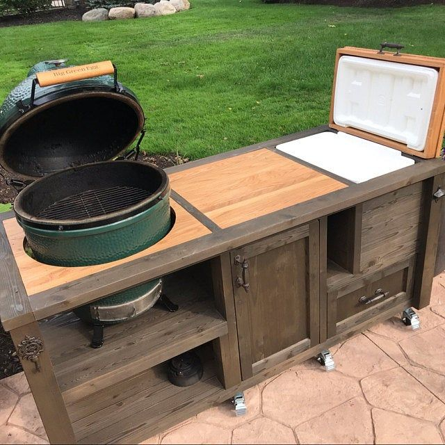 Outdoor Rustic Wooden Cooler Bar Serving Or Console Table Bar