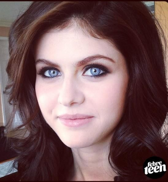 Alexandra Daddario -- Striking icy blue eyes... Definitely the most gorgeous pair I have ever seen.